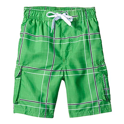 Zackate_Pants Mens Swim Trunks Quick Dry Beach Wear Shorts Mesh Lining Swimwear Bathing Suits Green