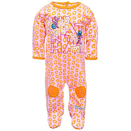 Dr. Seuss - Baby - Girls Thing One Thing Two Pajamas 6 Month Light Pink