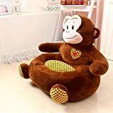 MAXYOYO Big Kindergarten Cartoon Bear/Dog/Frog/Monkey Stuffed Plush Toy Sofa Chair,Tatami Backrest Seat for Teens/Toddlers/Baby,Birthday Gift for Children (monkey)