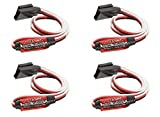 HobbyFlip 4 x Quantity of Helicopter Quadcopter Airplane Boat Car Controller In-Line Servo Reverser (Long version) 415mm Cable Length - Signal Type: 760us 1520us (Auto Detect)