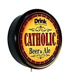 CATHOLIC Beer and Ale Cerveza Lighted Wall Sign
