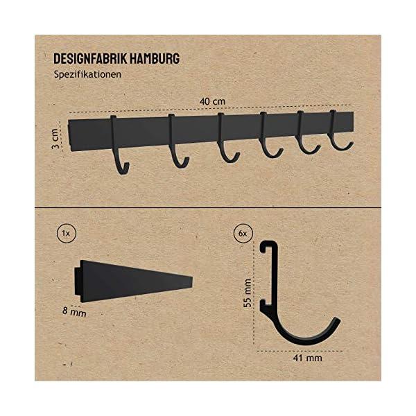 512o%2BMijZiL Designfabrik Hamburg | Hakenleiste Küchenleiste selbstklebend Hängeleiste Stange für Küchenutensilien | Küchenhalterung…
