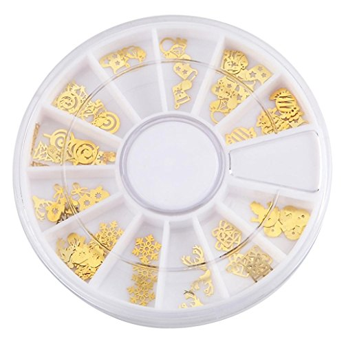 Tips For A Vampire Costume (Gotd 120Pcs Metal Nail Art Decorations Decor Rhinestones Tips Metallic Studs Nail Sticker (Gold))