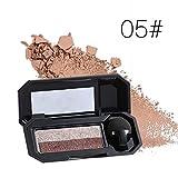 #9: Gracefulvara Double Shimmer Eyeshadow Nude Color Eye Cosmetics Palette 5#