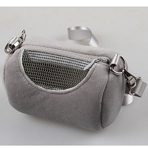 Zehui Portátil bolsa de cilindro para llevar hámster a fuera, cómodos bolsos para volar animales pequeños ardilla