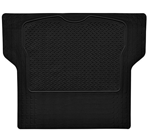 Car Cargo Liners (Heavy Duty Rubber Car Trunk Cargo Floor Mat Cargo Liner Black Trim-to-Fit All Weather for Auto SUV Van Truck Jeep - by Gititlys)