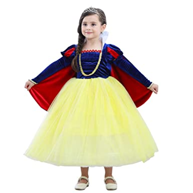 Amazon.com: Baihui Girls Party Dress Snow White Princess ...
