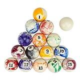 Premium Marbled Billiards Ball Set