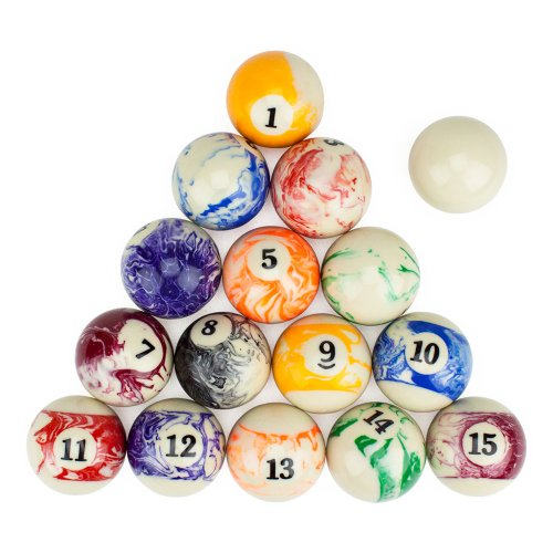 Premium Marbled Billiards Ball Set by Brybelly