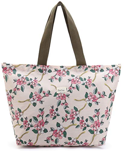 Tote Shopping Bag For Women,Coin Purse MakeUp Bag,School Backpack For Litter Girls Student (C-Tote Bag-Floral-Pink)