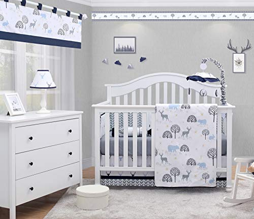 OptimaBaby Woodland Forest Deer 6 Piece Baby Nursery Crib Bedding Set from OptimaBaby