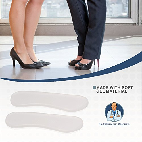 Dr. Frederick's Original Protective & Flexible Heel Grips Set - 10 Pieces - Adhesive Gel Heel Protectors to Prevent Blisters & Cuts - Heel Cushion Set for High Heels, Dress Shoes, Slip-Ons, and More by Dr. Frederick's Original (Image #3)