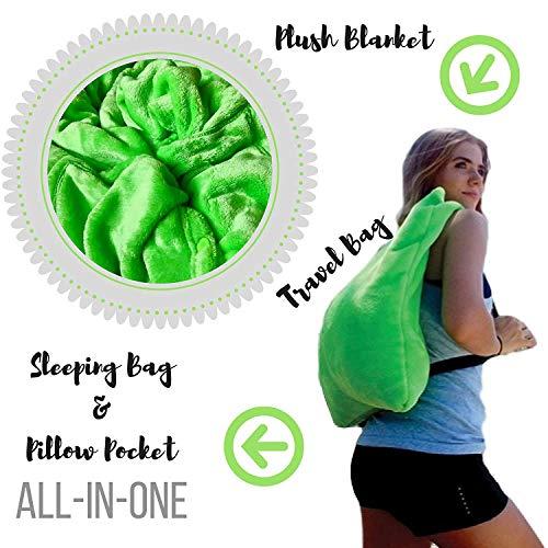 Cozi Down - Fleece Blanket for Travel, Camping, Sports - Soft Plush - Oversized - 60