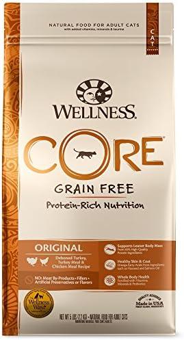 Wellness CORE Grain-Free Original Formula Dry Cat Food, 5 Pound Bag