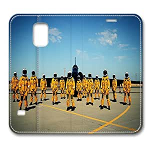 Leather Samsung Galaxy S5 Flip Case Cover, Lockheed U-2 Spy Plane Pilots Samsung Galaxy S5 Full Body Protector Leather Flip Folio Case Cover, Original Design And Made By PhilipHayes