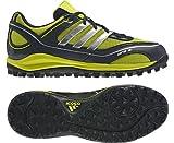 ADIDAS SRS3 Synthetic Unisex Hockey Shoes, Black/Lime, US7