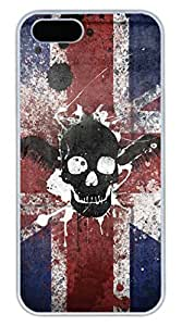 iPhone 5 5S Case Cool Skull 05 Funny Lovely Best Cool Customize iPhone 5S Cover White by icecream design