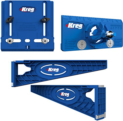 Kreg Tool Company - Drawer Slide Jig with Cabinet Hardware Jig and Concealed Hinge Jig - KHI-SLIDE, KHI-PULL, ()