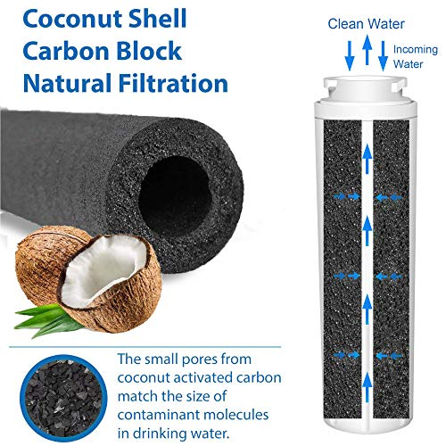 Compatible with Water Filter Whirlpool 4, Jenn-Air, PUR, Puriclean II, 469006, Crystala Filters