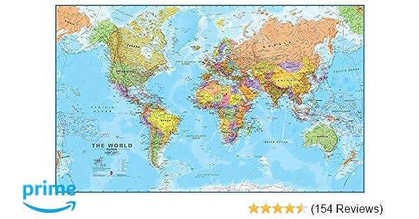 Amazon giant world megamap laminated 77 x 46 amazon giant world megamap laminated 77 x 46 9781934006009 maps international books gumiabroncs Gallery