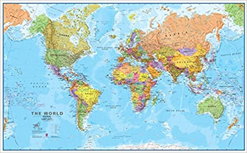 Amazon giant world megamap laminated 77 x 46 giant world megamap laminated 77 x 46 10th revision edition sciox Image collections