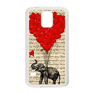 Elephant with Red heart shape balloon Cell Phone Case for Samsung Galaxy S5
