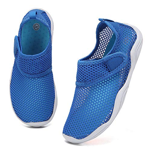 Fantiny Boys & Girls Water Shoes Lightweight Comfort Sole Easy Walking Athletic Slip on Aqua Sock(Toddler/Little Kid/Big…
