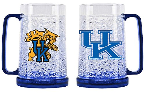 Duck House 1 Pc, Kentucky Wildcats Crystal Freezer Mug, 16oz, Eye Catching Crystals, State-Of-The-Art Refreezability With Color Coordinated Handle & Base