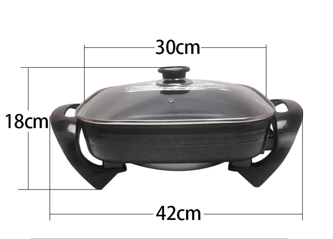 ZZBBQ 110V Multi-Function Electric Cooker Electric Skillet Thickening Household Electric Wok Hot Pot Smokeless Non-Stick Electric Pan Indoor by ZZBBQ (Image #4)