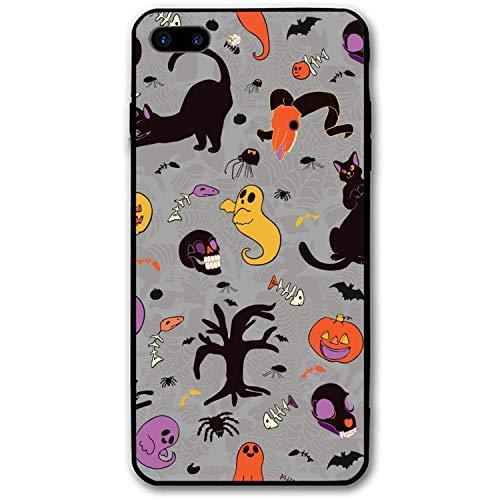 iPhone 7 Plus Case/iPhone 8 Plus Case, Cute Halloween Cartoon Slim-Fit Anti-Scratch Shock Proof Anti-Finger Print Case Compatible for iPhone 7/8 Plus -