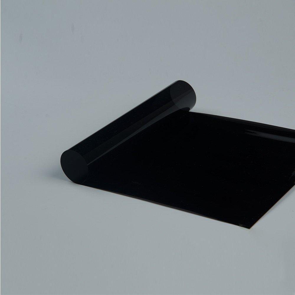 HOHO VLT 11% 1 Layer Glue Tinted Solar Tint Auto Car Window Glass Window Film Anti UV,50CMX3000CM