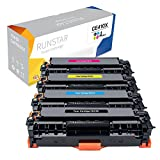 Run Star Compatible Toner Cartridge Replacement for HP 305X ( Black,Cyan,Magenta,Yellow , 4-Pack )