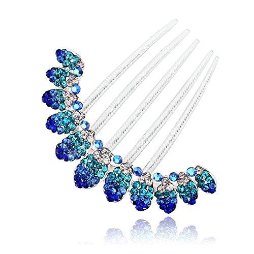FINGER LOVE France Luxury Pearl Rhinestone Floral Vantage Handmade French Twist Comb - Vantage Finger