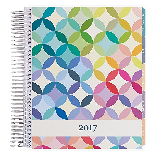 Erin Condren 12 month 2017 Life Planner - Midcentury Circles-Colorful Vertical Colorful, Colorful Interior (AMA-12M 2017 07)