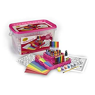 Crayola Fabulous Art Kit, Amazon Exclusive, 100+ Pcs, Gifts for Girls & Boys, Age 5+