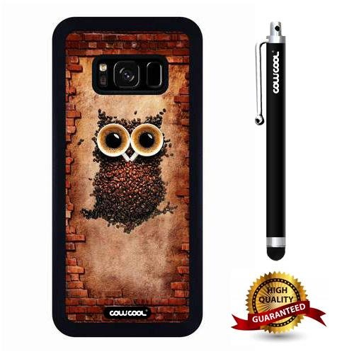 Galaxy S8 The reality, Owl Case, Cowcool Ultra Thin Soft Silicone Case for Samsung Galaxy S8 - Coffee Bean Owl