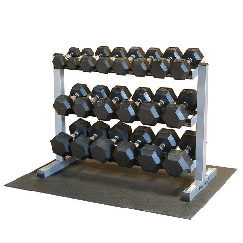 Body-Solid-GDR363-RFWS-Dumbbell-Rack-with-Rubber-Dumbbells