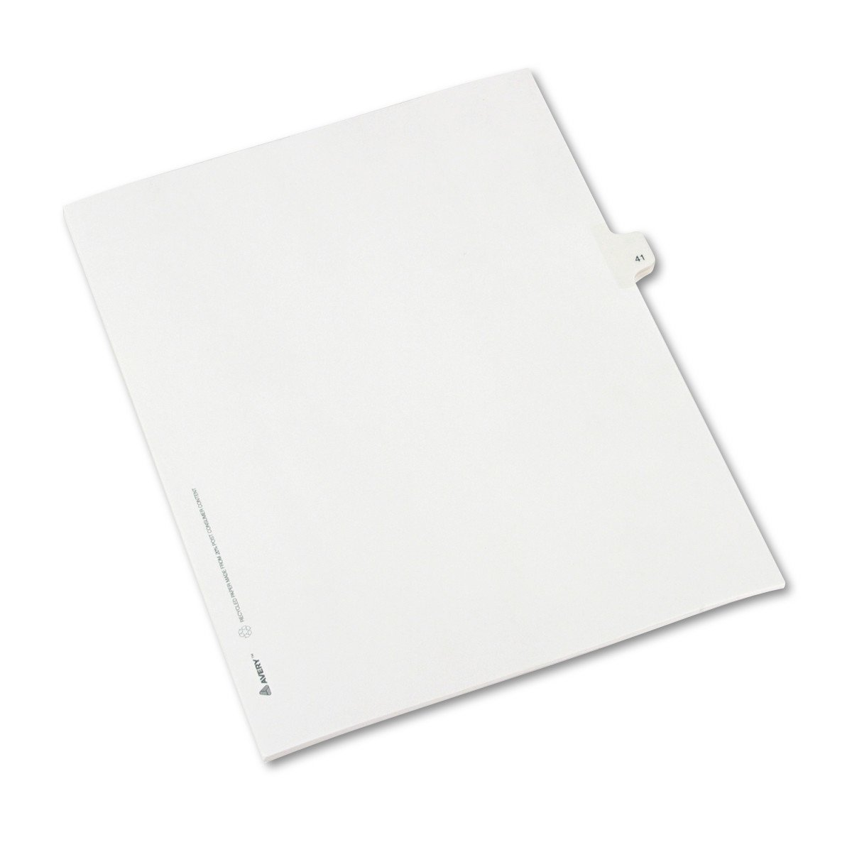 Avery Individual Legal Exhibit Dividers, Allstate Style, 41, Side Tab, 8.5 x 11 inches, Pack of 25 (82239)