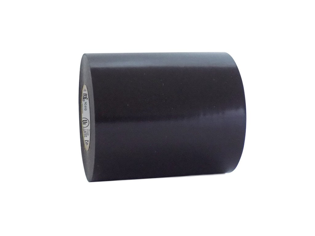 T.R.U. EL7566-AW Professional Grade Rubber Black PVC Electrical Tape, rated up to 600 volts and 176 F - UL/CSA/CE Listed Synthetic: 4 in. x 66 Ft. (8 Mil)