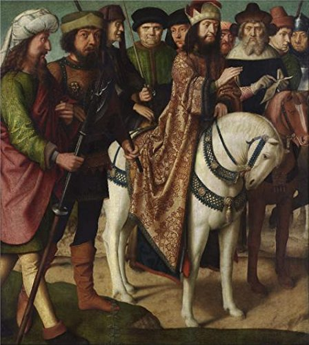 ['Pilate's Dispute With The High Priest By Gerard David, Between 1480-1485' Oil Painting, 12x13 Inch / 30x34 Cm ,printed On Perfect Effect Canvas ,this High Definition Art Decorative Prints On Canvas Is Perfectly Suitalbe For Kids Room Decoration And Home Gallery Art And] (High Priest Costume For Sale)