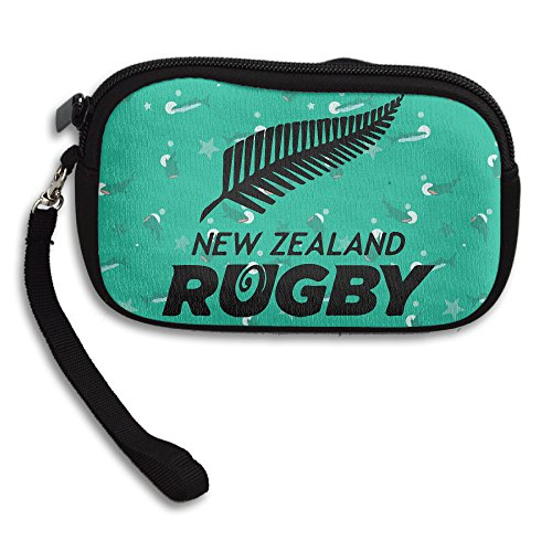 NZRU New Zealand Rugby Union Cellphone Bag / Wristlet Handbag / Clutch Purse / Wallet Handbag With Wrist Band For Adults And Kids (Mitre Cup)