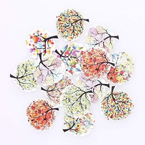 RTYW 100個の混在木2Hole木製ボタンDIYの装飾のために子供服縫製ボタン工芸スクラップブッキングアクセサリー (Color : 25pcs)