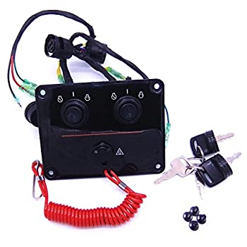 Image of 6K1-82570 6K1-82570-12-00 Outboard Engine Dual Twin Switch Panel Main Switch Assembly for Yamaha Boat Motor Boat Engine Parts