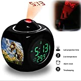 Projection Alarm Clock Wake Up Bedroom with Data and Temperature Display Talking Function, LED Wall / Ceiling Projection, Dinosaur-292.396_Dinosaurs, Lizards, Jurassic, Reptiles