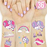 xo, Fetti Unicorn Party Supplies Tattoos for Kids - 36 Glitter Styles | Unicorn Party Favors and Birthday Decorations + Halloween Costume