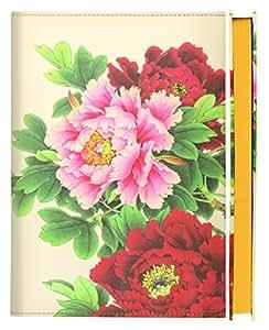 Daycraft Flower Wow - Cuaderno (A5, hojas a rayas), diseño de flores, color blanco