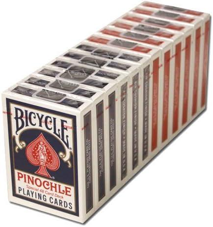 12 Decks Bicycle Pinochle Cards (6 Red / 6 Blue) 512o57cJ2eL