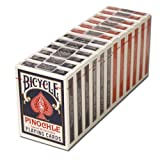 12 Decks Bicycle Pinochle Cards (6 Red / 6 Blue)