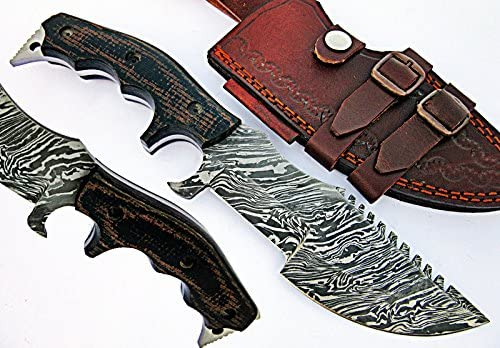 Poshland TR-40 Custom Handmade Damascus Steel Tracker Knife