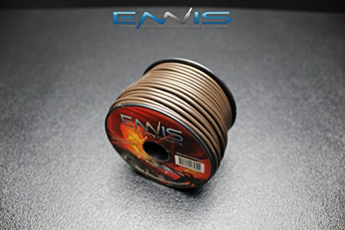 - 18 GAUGE WIRE BY ENNIS ELECTRONICS 100 FT BROWN SPOOL PRIMARY AWG COPPER CLAD